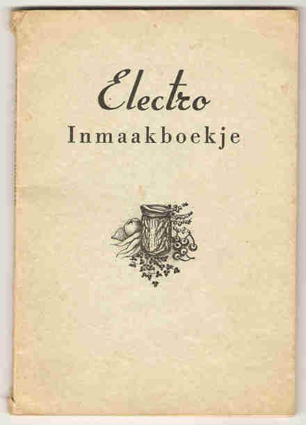 - Electro inmaakboekje.