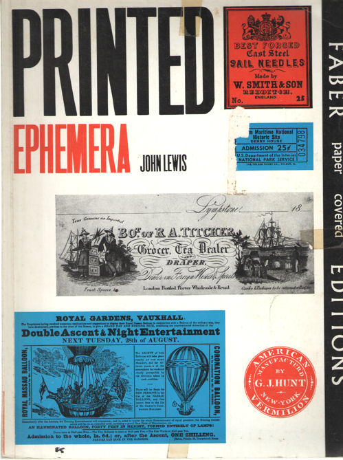 LEWIS, JOHN - Printed matter. The changing use of type and letterforms in English and American printing.