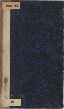 ELBERTS, W.A. - Tabellarische handleiding tot de beoefening der Nederlandsche letterkunde door w.A. Elberts, kostschoolhouder te Zwolle.