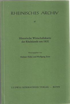 - Historische Wirtschaftskarte der Rheinlande um 1820. Herausgegeben von Helmut Hahn und Wolfgang Zporn in Verbindung mit Heiner Jansen und Wilfried Krings.