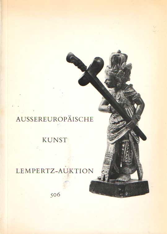 - Aussereuropäische Kunst Lempertz-Auktion 506.