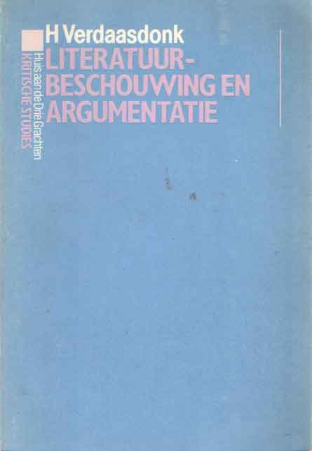 VERDAASDONK, H. - Literatuurbeschouwing en argumentatie.
