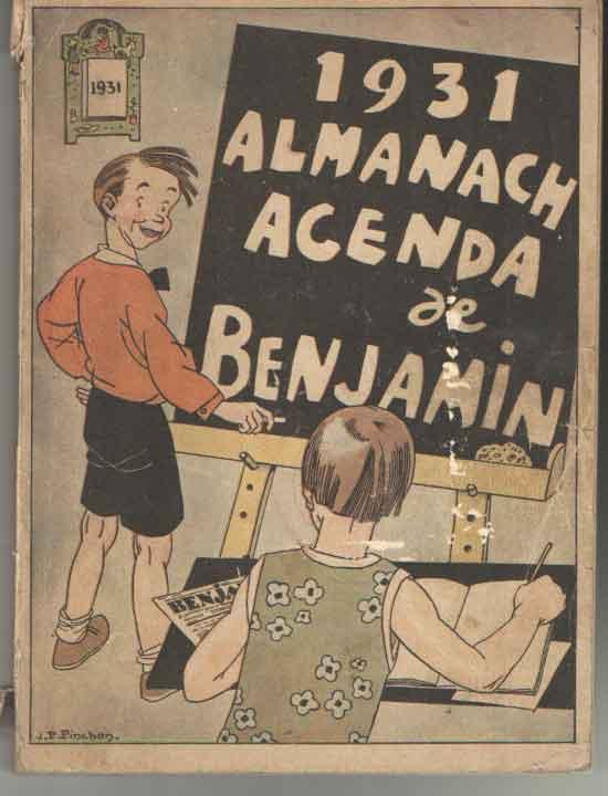 - 1931 Almanach agenda de Benjamin.
