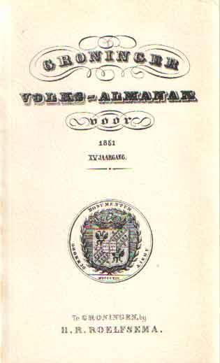 - Groninger Volksalmanak 1851 XV jaargang.
