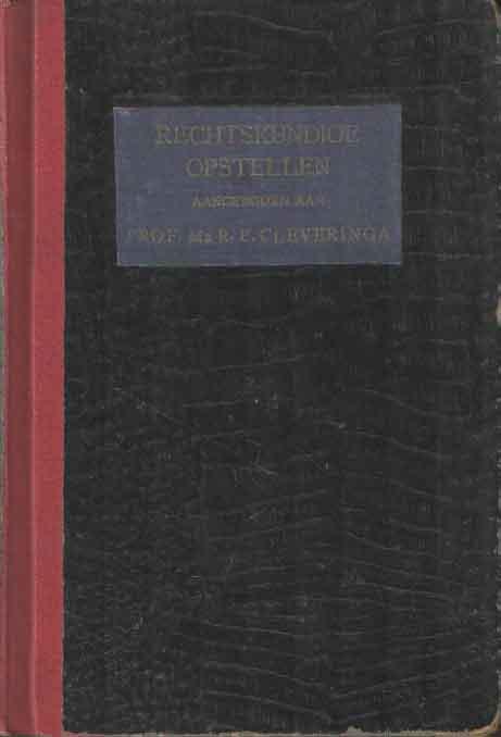 MEIJER, E.M. (INL.) - Rechtskundige opstellen. Op 7 december 1952 door oud-leerlingen aangeboden aan Prof. Mr. R.P. Cleveringa, voorafgegaan door een chronologisch overzicht van zijn publicaties.