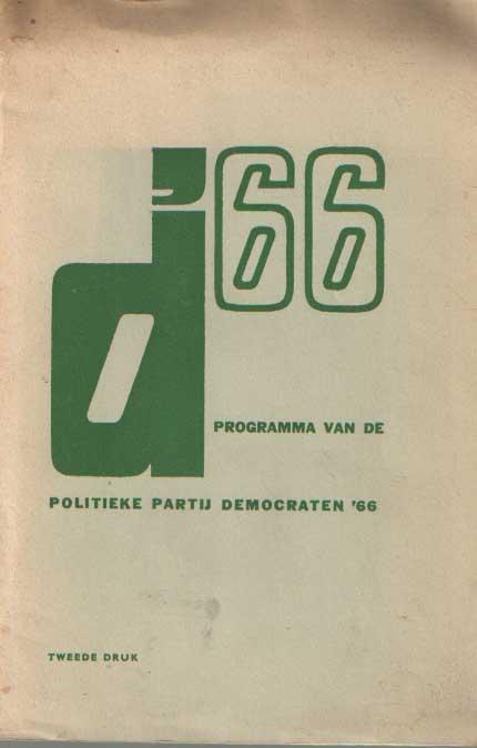 - D'66 Programma van de politieke partij Democraten '66.