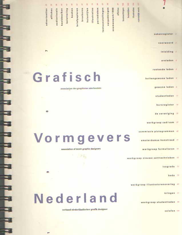 - Grafisch Vormgevers Nederland / Dutch Graphic Designers 1987..