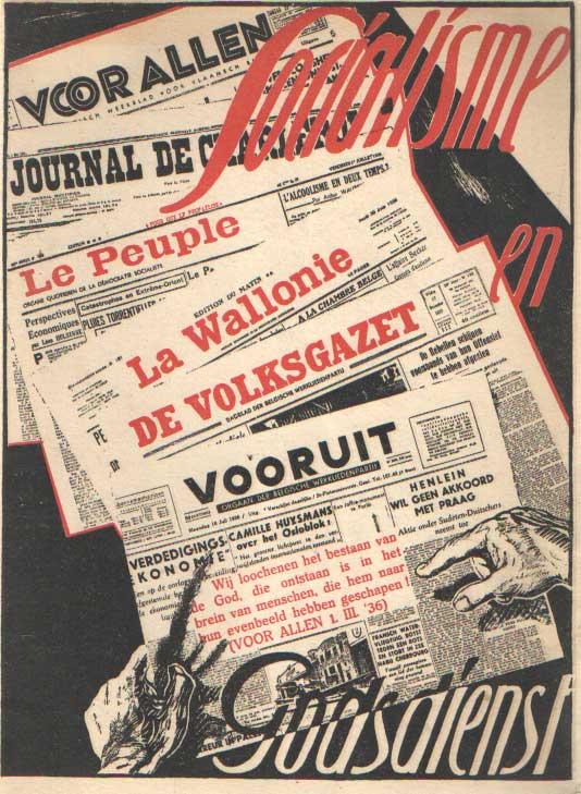 P.D.C. - Socialisme en godsdienst. Persbrochure, Nr 1.