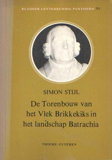 STIJL, SIMON - De torenbouw van het Vlek Brikkekiks in het landschap Batrachia.