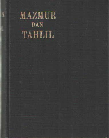 SCHRÖDER, C.CH.J. (VERTALER) - Mazmoer dan Tahlil. Tjekan jang keampat.