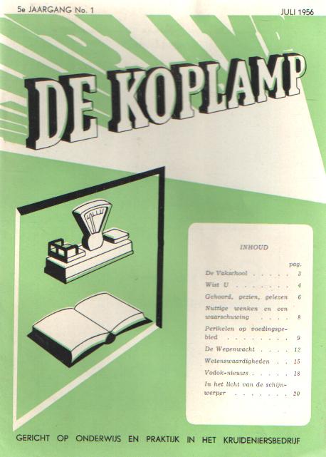 VERMEULEN, H.J. E.A. (RED.) - De koplamp.Gericht op onderwijs en practijk in het kruideniersbedrijf. 4e jaargang, nrs. 3, 4, 5 & 6, 5e jaargang, nrs. 1 & 2.