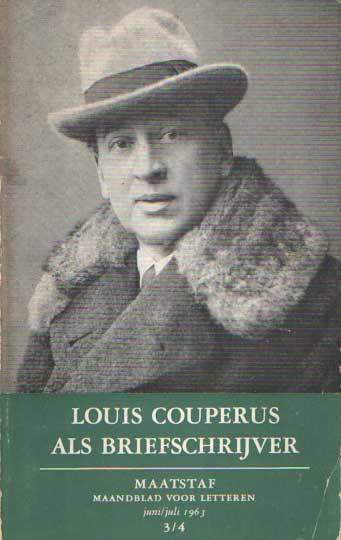 BAKKER, BERT (RED.) - Maatstaf. Maandblad voor letteren. juni/juli 1963 3/4 Louis Couperus als briefschrijver.