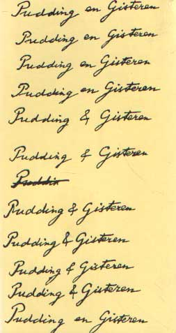 BOER, F; H. KNEGTMANS & G. LUIJTERS - Pudding en gisteren.