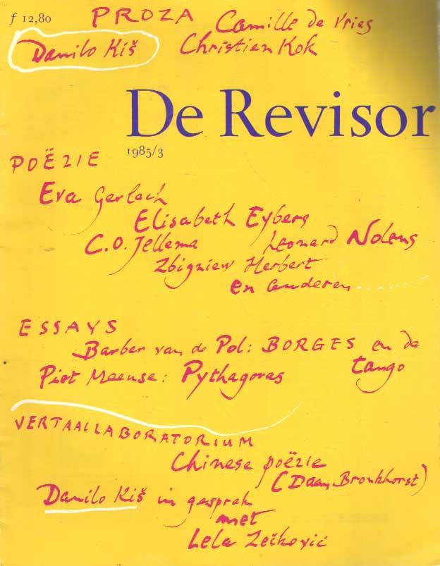 BUUREN, MAARTEN VAN E.A. (REDACTIE) - De revisor. 12e jaargang, no. 3.