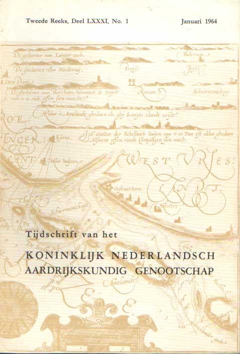 KONINKLIJK NEDERLANDSCH AARDRIJKSKUNDIG GENOOTSCHAP - Tijdschrift van het Koninklijk Nederlandsch Aardrijkskundig Genootschap. Complete jaargang 1964 (4 nummers).