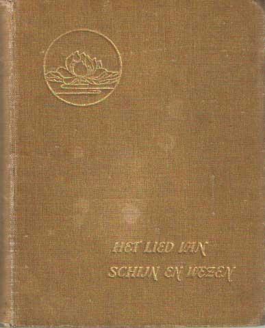 EEDEN, FREDERIK VAN - Het lied van schijn en wezen. Eerste boek.
