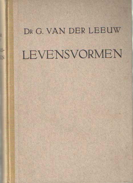 LEEUW, G. VAN DER - Levensvormen.