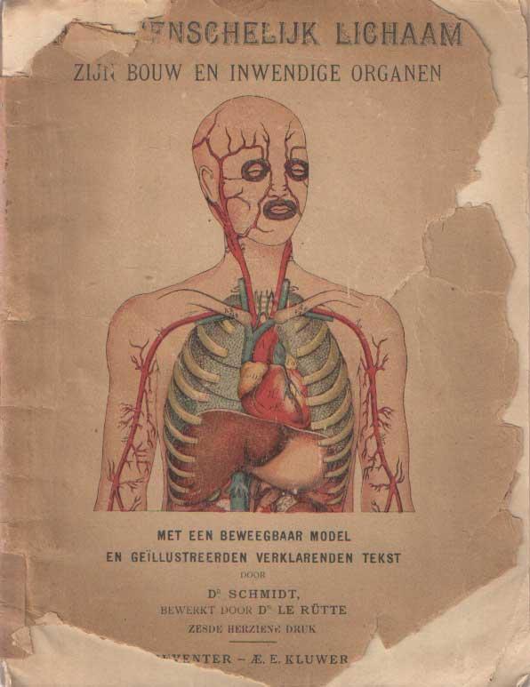SCHMIDT, BEWERKT DOOR DR. LE RÜTTE - Het menschelijk lichaam. Zijn bouw en inwendige organen.