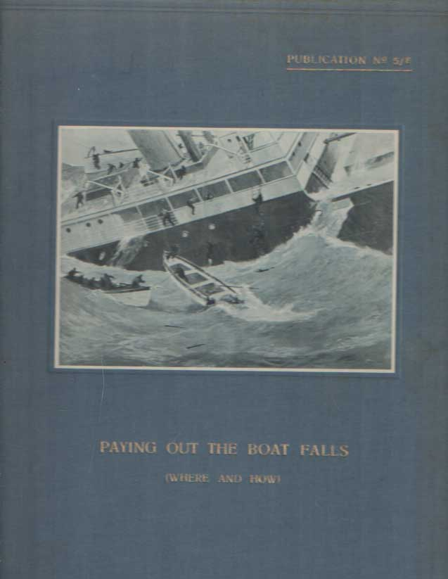 SCHAT, A.P. - Paying out the Boat Falls (where and how).