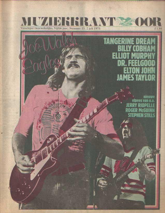 DIVERSE AUTEURS - Muziekkrant Oor. Vijfde jaar, nummer 13 2 juli 1975.