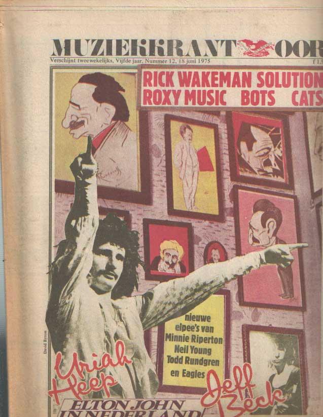 DIVERSE AUTEURS - Muziekkrant Oor. Vijfde jaar, nummer 12, 18 juni 1975.