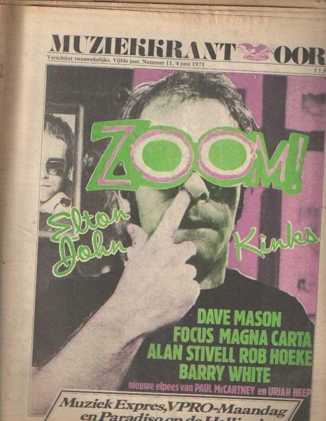 DIVERSE AUTEURS - Muziekkrant Oor. Vijfde jaar, nummer 11, 4 juni 1975.