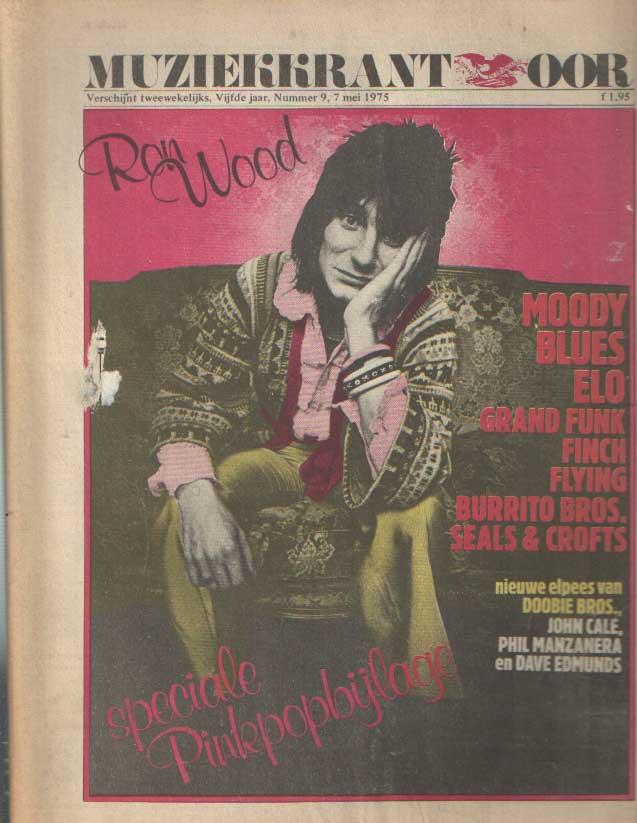 DIVERSE AUTEURS - Muziekkrant Oor. Vijfde jaar, nummer 9, 7 mei 1975.