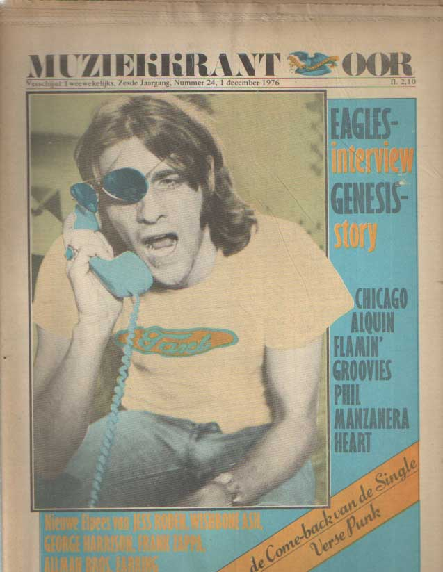 DIVERSE AUTEURS - Muziekkrant Oor. Zesde jaargang, nummer 24, 1 december 1976.