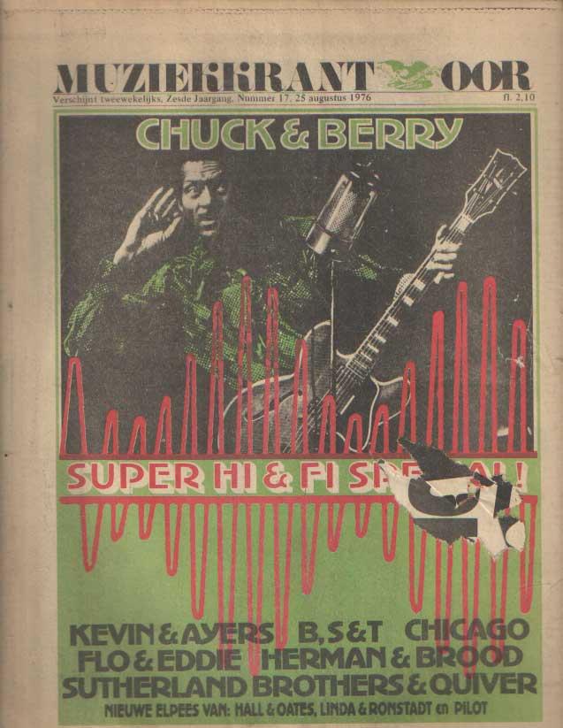 DIVERSE AUTEURS - Muziekkrant Oor. Zesde jaargang, nummer 17, 25 augustus 1976.