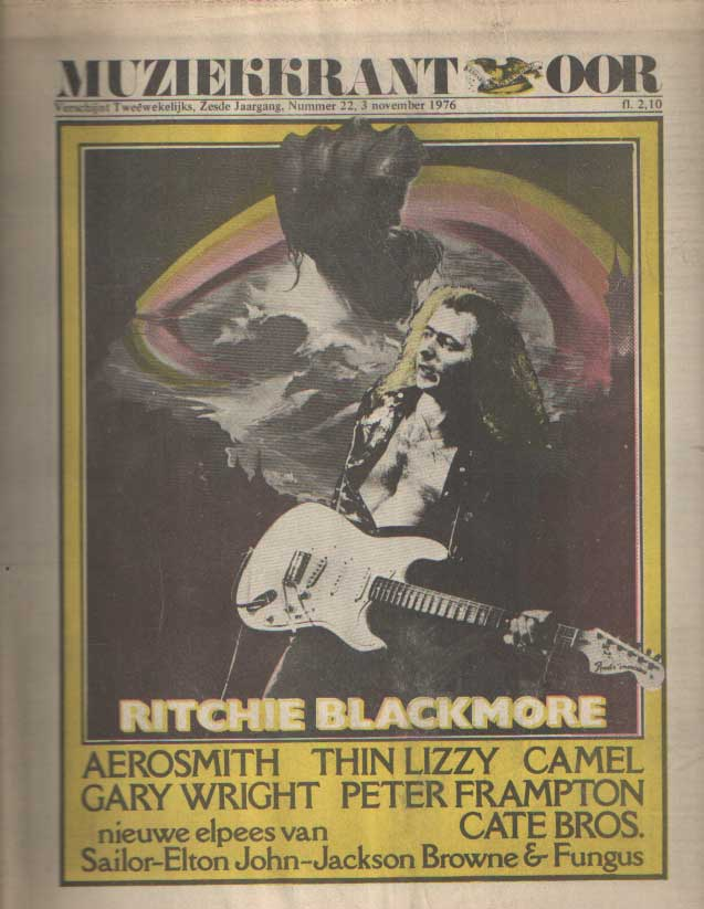 DIVERSE AUTEURS - Muziekkrant Oor. Zesde jaargang, nummer 22, 3 november 1976.