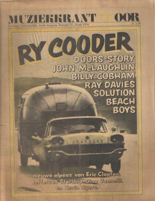 DIVERSE AUTEURS - Muziekkrant Oor. Zesde jaargang, nummer 15, 28 juli 1976.