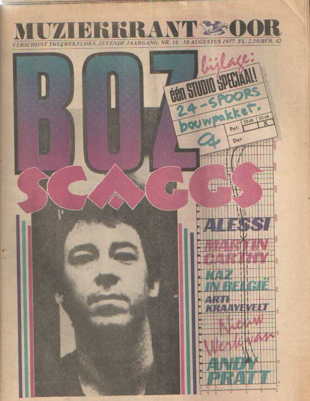 DIVERSE AUTEURS - Muziekkrant Oor. Zevende jaargang, nummer 16, 10 augustus 1977.