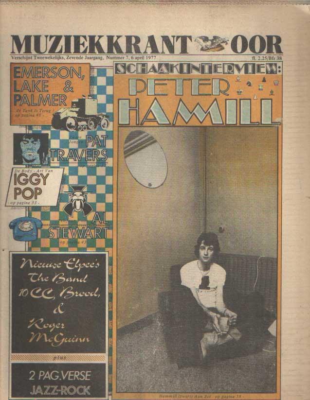 DIVERSE AUTEURS - Muziekkrant Oor. Zevende jaargang, nummer 7, 6 april 1977.