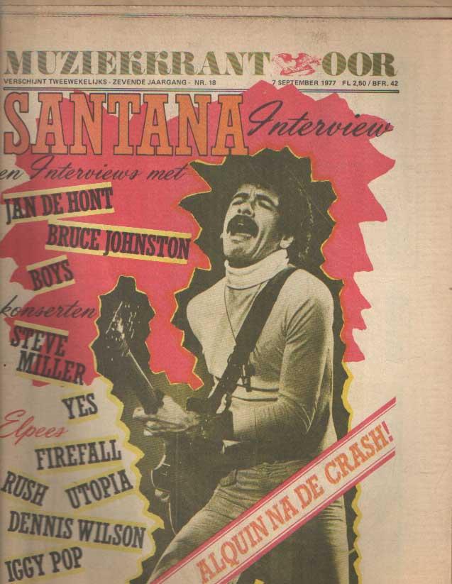 DIVERSE AUTEURS - Muziekkrant Oor. Zevende jaargang, nummer 18, 7 september 1977.