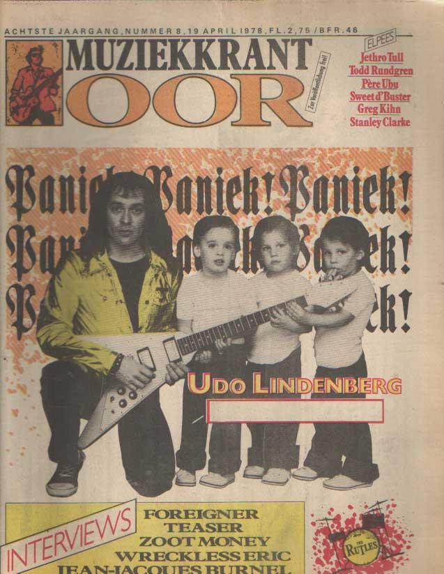 DIVERSE AUTEURS - Muziekkrant Oor. Achtste jaargang, nummer 8, 19 april 1978.