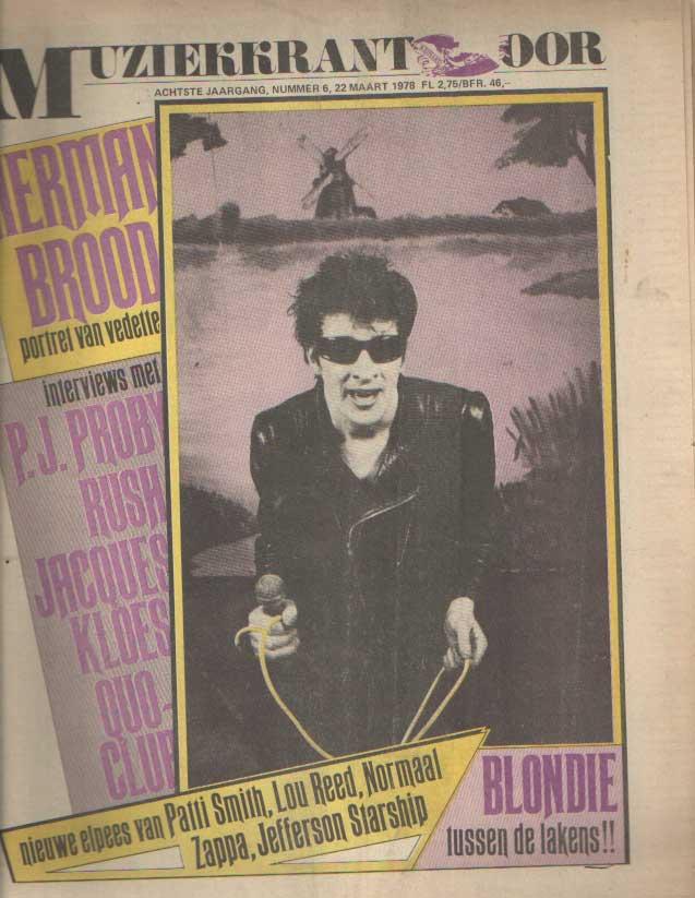 DIVERSE AUTEURS - Muziekkrant Oor. Achtste jaargang, nummer 6, 22 maart 1978.