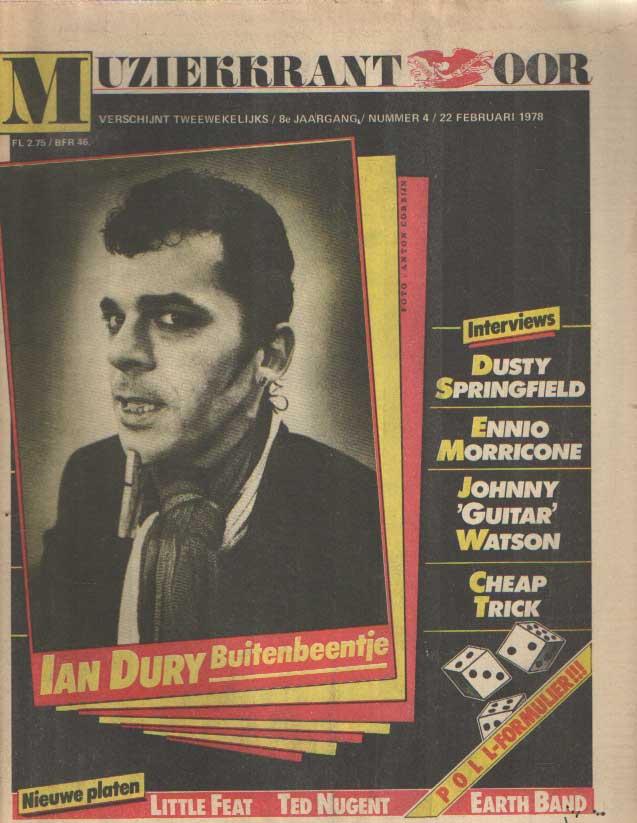 DIVERSE AUTEURS - Muziekkrant Oor. Achtste jaargang, nummer 4, 22 februari 1978.