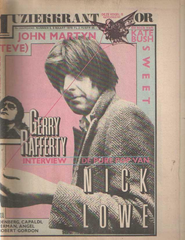DIVERSE AUTEURS - Muziekkrant Oor. Achtste jaargang, nummer 5, 8 maart 1978.