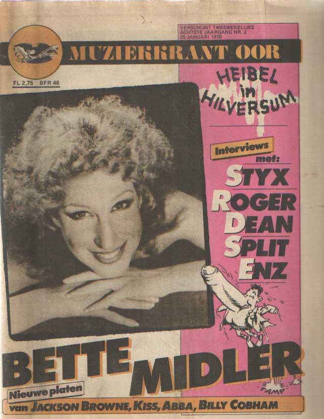DIVERSE AUTEURS - Muziekkrant Oor. Achtste jaargang, nummer 2, 25 januari 1978.