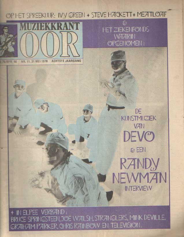 DIVERSE AUTEURS - Muziekkrant Oor. Achtste jaargang, nummer 11, 31 mei 1978.