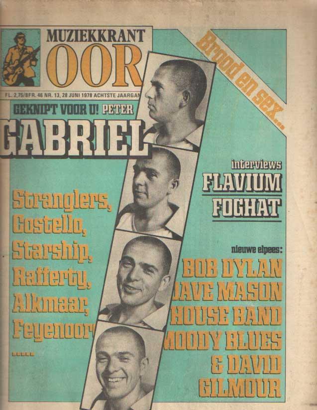 DIVERSE AUTEURS - Muziekkrant Oor. Achtste jaargang, nummer 13, 28 juni 1978.