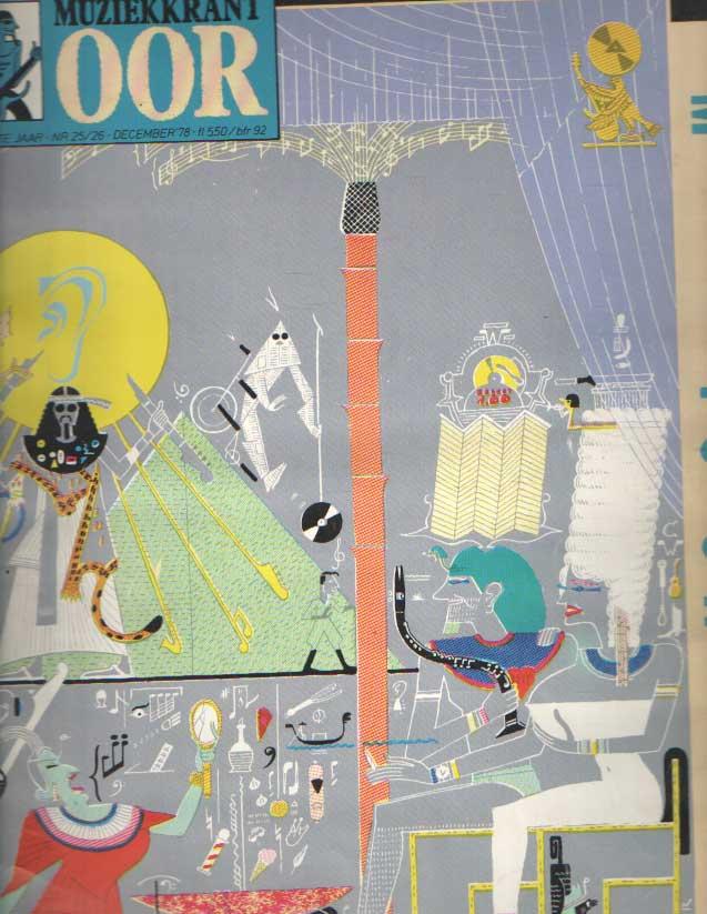 DIVERSE AUTEURS - Muziekkrant Oor. Achtse jaargang, nr. 25/26 december 1978.