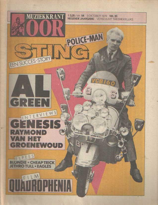 DIVERSE AUTEURS - Muziekkrant Oor. Negende jaargang, nummer 20, 3 oktober 1979.