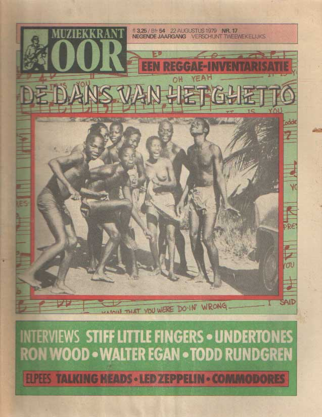 DIVERSE AUTEURS - Muziekkrant Oor. Negende jaargang, nummer 17, 22 augustus 1979.