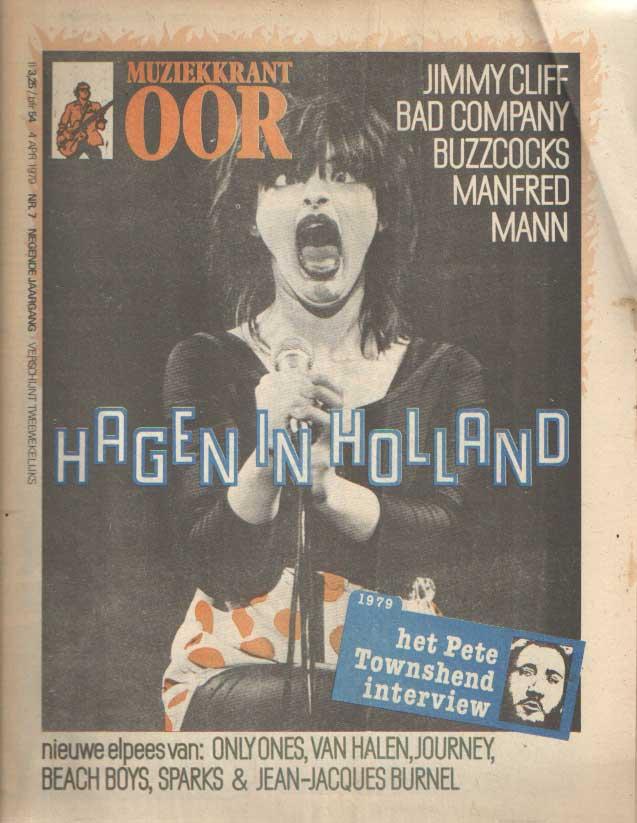 DIVERSE AUTEURS - Muziekkrant Oor. Negende jaargang, nummer 7, 4 april 1979.
