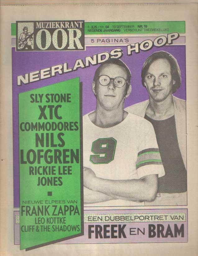 DIVERSE AUTEURS - Muziekkrant Oor. Negende jaargang, nummer 19, 19 september 1979.