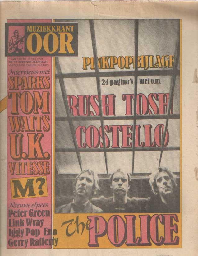 DIVERSE AUTEURS - Muziekkrant Oor. Negende jaargang, nummer 10, 16 mei 1979.